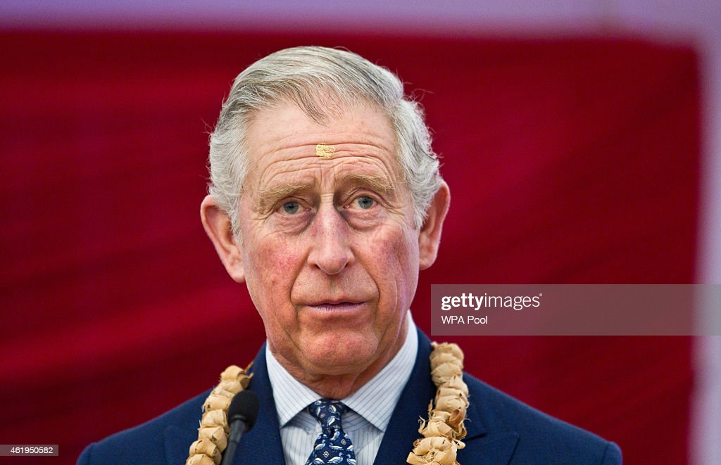 Prince Charles, Prince Of Wales delivers a speech during a tour of the Jain Temple on January 22, 2015 in Potters Bar, Hertfordshire, England. The Prince Of Wales was later presented with the Ahimsa Award which recognises individuals who show compassion and tolerance to humanity, animals and the environment.
