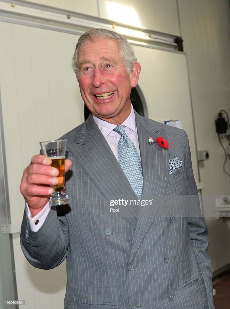 Prince Charles, Prince of Wales enjoys taste testing local beer at West Coast Brewery on November 7, 2015 in Westport, New Zealand. The Royal couple are on a 12 day tour visiting seven regions in New Zealand and three states and one territory in Australia.