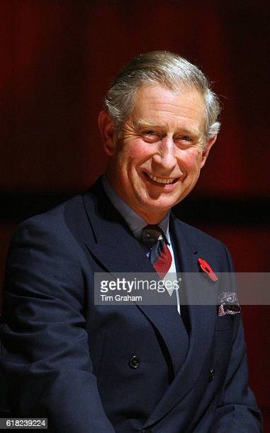Prince Charles Prince of Wales gives a speech at the Pearl Awards which recognise Chinese achievements in the United Kingdom at the Royal Festival...
