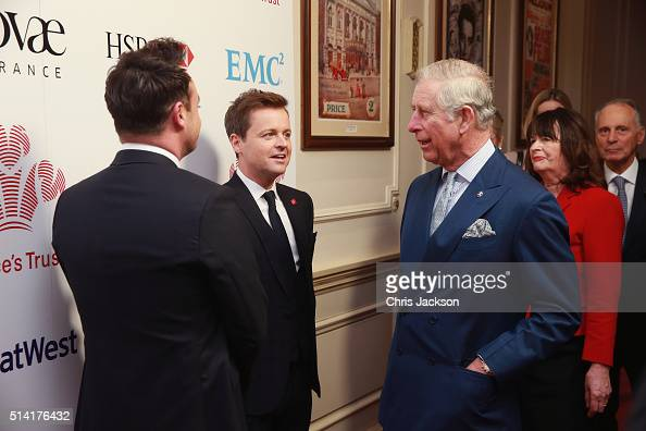 Prince Charles Prince of Wales greets Anthony McPartlin and Declan Donnelly as they attend The Prince's Trust Celebrate Success Awards at London...