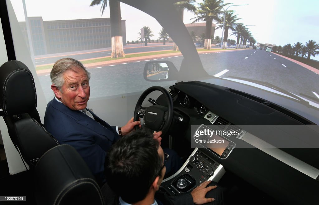 <a gi-track='captionPersonalityLinkClicked' href=/galleries/search?phrase=Prince+Charles&family=editorial&specificpeople=160180 ng-click='$event.stopPropagation()'>Prince Charles</a>, Prince of Wales has a go on a simulator as he visits Williams at the Qatar Science and Technology Park on the fourth day of a tour of the Middle East on March 14, 2013 in Doha, Qatar. The Royal couple are on the second leg of a tour of the Middle East taking in Qatar, Saudia Arabia and Oman.