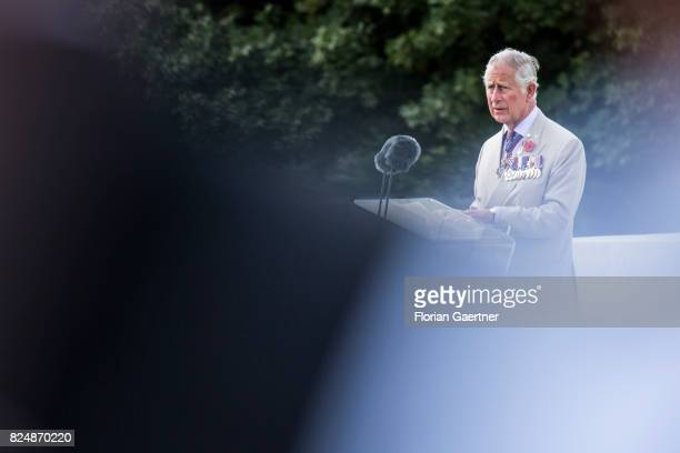 Prince Charles Prince of Wales is pictured during the Commemoration Ceremony of the Battle of Passchendaele on July 31 2017 in Passchendaele Belgium...