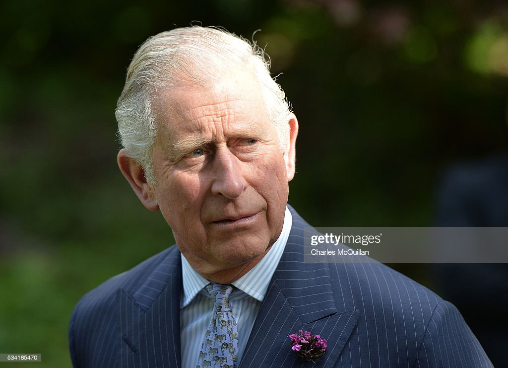 Prince Charles, Prince of Wales is seen on his visit to Glenveagh Castle on May 25, 2016 in Letterkenny, Ireland. The royal couple are on a one day visit to Ireland having spent two days across the border in Northern Ireland. It is their first trip to Donegal.