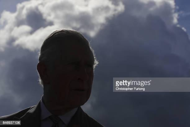Prince Charles Prince of Wales is silouhetted as attends The Westmorland County Show on September 14 2017 in Milnthorpe England During his tour of...