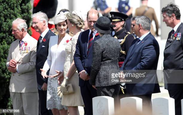 Prince Charles Prince of Wales King Philippe of Belgium Catherine Duchess of Cambridge Queen Mathilde of Belgium Prince William Duke of Cambridge...