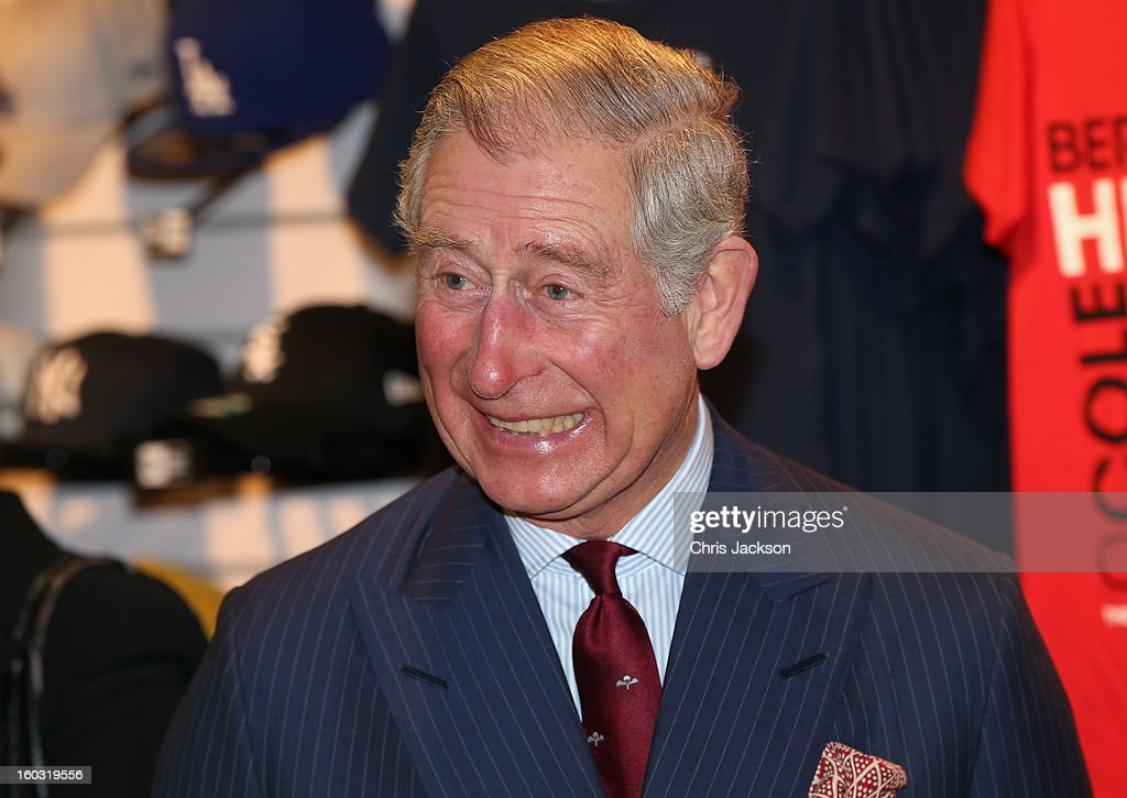 <a gi-track='captionPersonalityLinkClicked' href=/galleries/search?phrase=Prince+Charles&family=editorial&specificpeople=160180 ng-click='$event.stopPropagation()'>Prince Charles</a>, Prince of Wales laughs as he visits Circle Sports in North London on January 29, 2013 in London, England. The Prince of Wales, President, Business in the Community, led a group of senior business leaders on a Seeing is Believing visit to an organisation supported by BITC, Circle Sports.