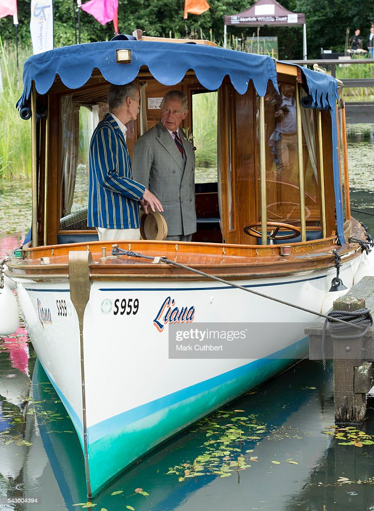 Prince Charles, Prince of Wales looks at a launch during a visit to The Royal Norfolk Show at Norfolk Showground on June 29, 2016 in Norwich, England.