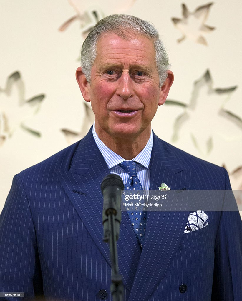 <a gi-track='captionPersonalityLinkClicked' href=/galleries/search?phrase=Prince+Charles&family=editorial&specificpeople=160180 ng-click='$event.stopPropagation()'>Prince Charles</a>, Prince of Wales makes a speech as he, accompanied by Jamie Oliver, visits Carshalton Boys Sports College to see how the school has transformed its approach to healthy eating on November 26, 2012 in Carshalton, England.