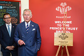 Prince Charles Prince of Wales makes a speech during a visit to his his Prince's Trust centre where the charity's beneficiaries staff and supporters...