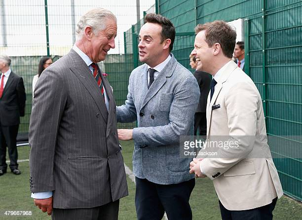 Prince Charles Prince of Wales meets Anthony McPartlin and Declan Donnelly ahead of meeting young offenders taking part in a 'Get Started with...