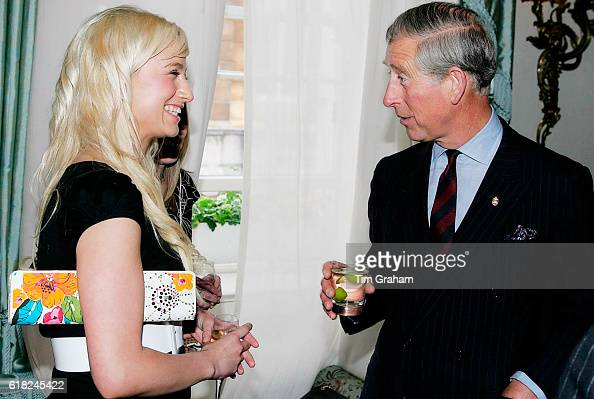JUNE 2006*** Prince Charles Prince of Wales meets Chantelle Houghton at a reception at Clarence House for those supporting a concert to celebrate the...