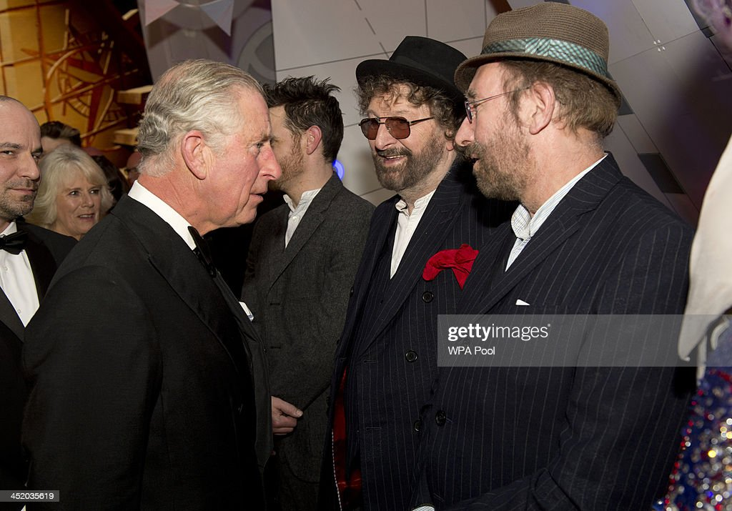 Prince Charles, Prince of Wales meets Chas and Dave at the Royal Variety Performance at London Palladium on November 25, 2013 in London, England.