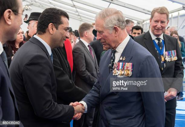 Prince Charles Prince of Wales meets Dr Salih Husain Ali ALTamimi Iraqi Ambassador to the UK at a reception following the unveiling of the new...