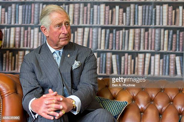 Prince Charles Prince of Wales meets entrepreneurs supported by the Prince's Trust on September 9 2014 in London England