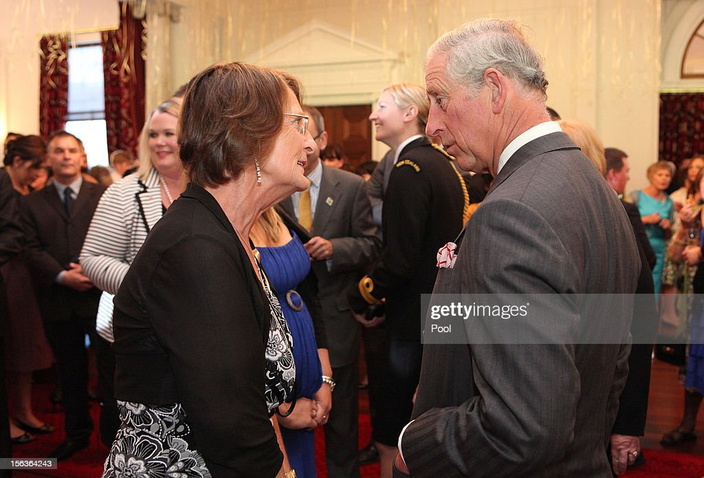 Prince Charles, Prince of Wales meets guests during his 64th birthday celebration who are also celebrating their birthday, at Government House on November 14, 2012 in Wellington, New Zealand. The Royal couple are in New Zealand on the last leg of a Diamond Jubilee that takes in Papua New Guinea, Australia and New Zealand.