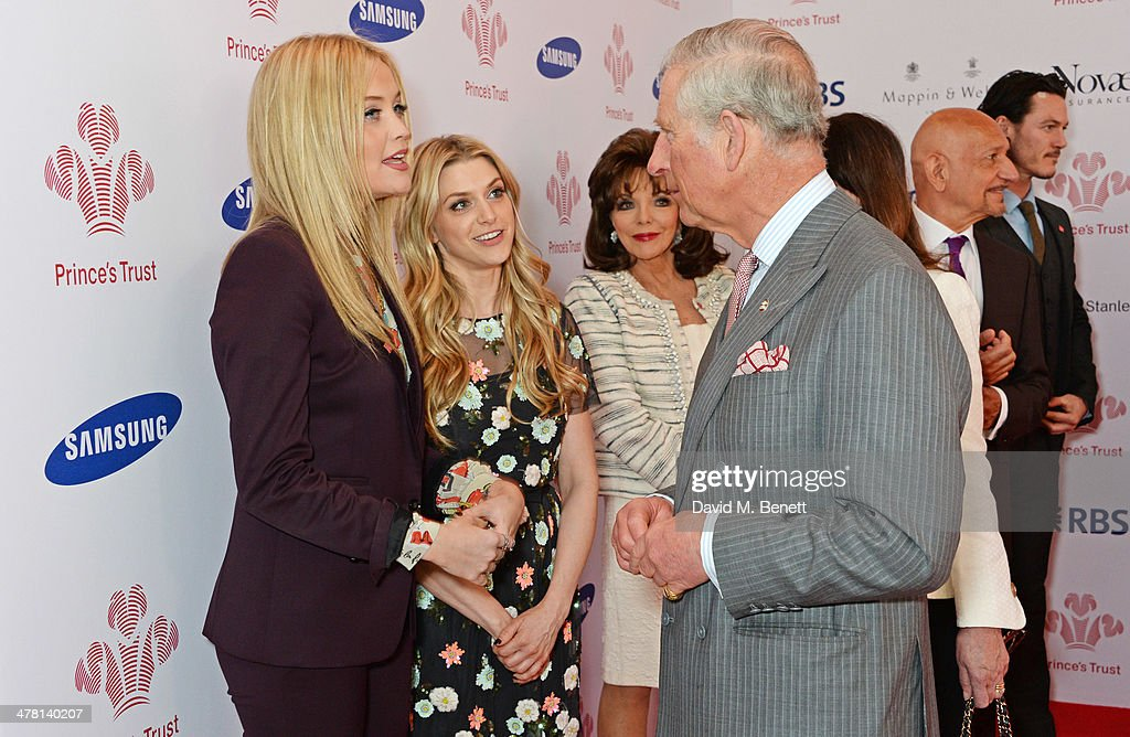 <a gi-track='captionPersonalityLinkClicked' href=/galleries/search?phrase=Prince+Charles+-+Prince+of+Wales&family=editorial&specificpeople=160180 ng-click='$event.stopPropagation()'>Prince Charles</a>, Prince of Wales (3R) meets (L to R) <a gi-track='captionPersonalityLinkClicked' href=/galleries/search?phrase=Laura+Whitmore&family=editorial&specificpeople=5599316 ng-click='$event.stopPropagation()'>Laura Whitmore</a>, Anna Williamson, <a gi-track='captionPersonalityLinkClicked' href=/galleries/search?phrase=Joan+Collins&family=editorial&specificpeople=109065 ng-click='$event.stopPropagation()'>Joan Collins</a>, <a gi-track='captionPersonalityLinkClicked' href=/galleries/search?phrase=Sir+Ben+Kingsley&family=editorial&specificpeople=699878 ng-click='$event.stopPropagation()'>Sir Ben Kingsley</a> and Luke Evans at the Prince's Trust & Samsung Celebrate Success awards at Odeon Leicester Square on March 12, 2014 in London, England.