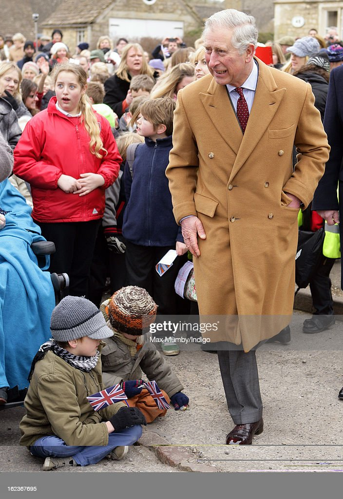 <a gi-track='captionPersonalityLinkClicked' href=/galleries/search?phrase=Prince+Charles&family=editorial&specificpeople=160180 ng-click='$event.stopPropagation()'>Prince Charles</a>, Prince of Wales meets members of the public during a walkabout whilst visiting the Uley Community Stores and Post Office on February 22, 2013 in Uley, Gloucestershire, England.