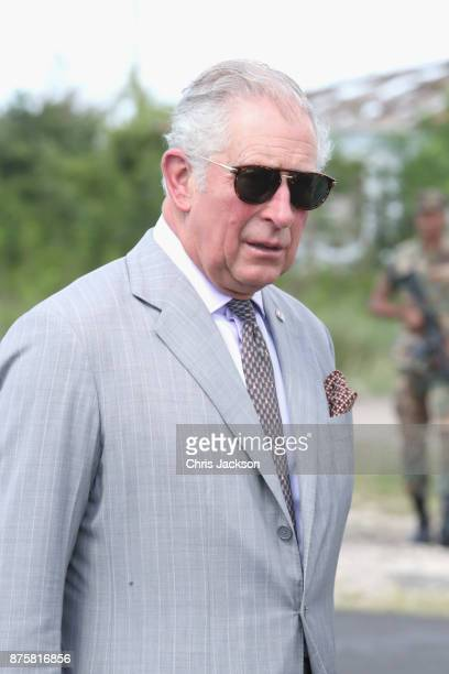 Prince Charles Prince of Wales meets students and teachers as he visits the YEP youth center on November 18 2017 in Beef Island British Virgin...