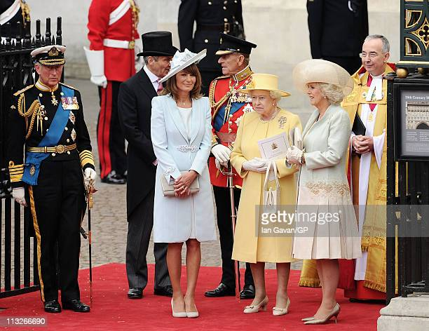 Prince Charles Prince of Wales Michael Middleton Carole Middleton Prince Philip Duke of Edinburgh Queen Elizabeth II Camilla Duchess of Cornwall and...