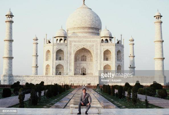 Prince Charles Prince of Wales poses outside the Taj Mahal during his visit to India in 1980 Twelve years later the Princess of Wales posed alone in...