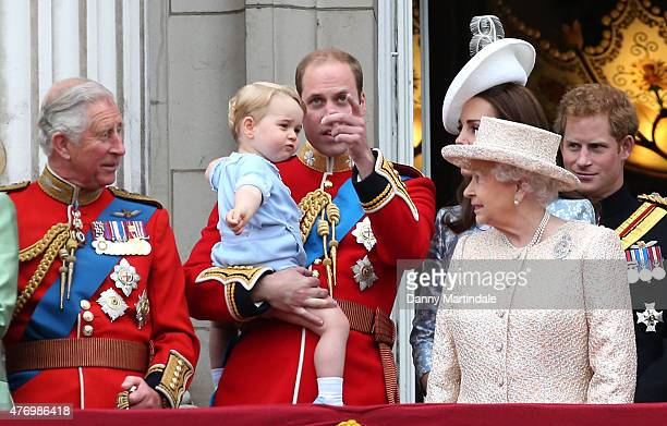 Prince Charles Prince of Wales Prince George of Cambridge Prince William Duke of Cambridge Catherine Duchess of Cambridge Queen Elizabeth II and...