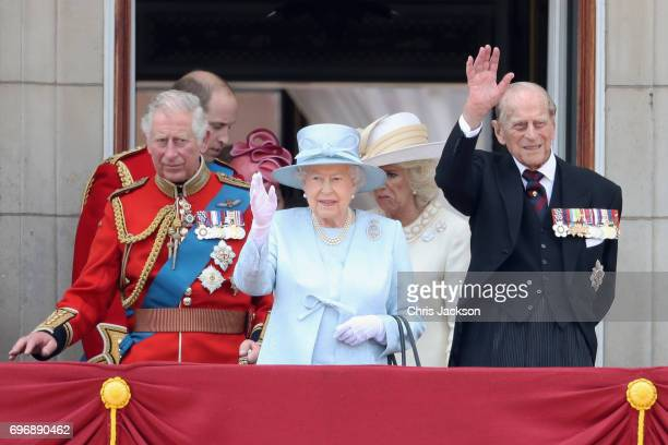 Prince Charles Prince of Wales Prince William Duke of Cambridge Queen Elizabeth II Camilla Duchess of Cornwall and Prince Philip Duke of Edinburgh...