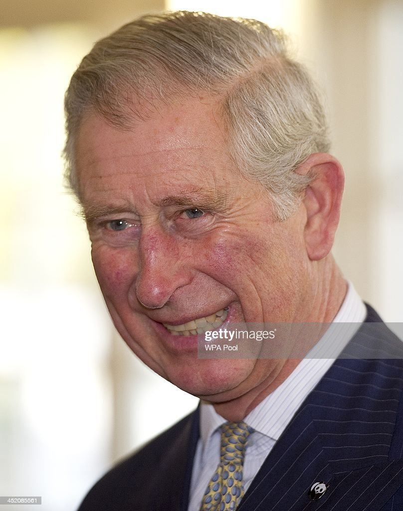 <a gi-track='captionPersonalityLinkClicked' href=/galleries/search?phrase=Prince+Charles&family=editorial&specificpeople=160180 ng-click='$event.stopPropagation()'>Prince Charles</a>, Prince of Wales smiles as he attends a meeting of 'United for Wildlife' at the Zoological Society of London on November 26, 2013 in London, England. The Duke of Cambridge is President of United for Wildlife, a collaboration of seven of the largest global Conservation organisations.