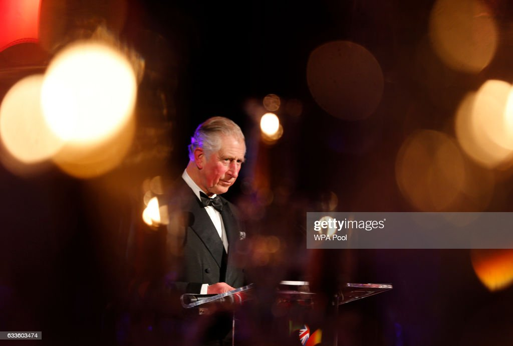 Prince Charles, Prince of Wales speaks at a reception and dinner for The British Asian Trust charity's supporters at Guildhall on February 2, 2017 in London, England.