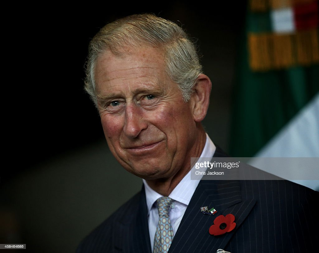 Prince Charles Prince of Wales speaks during an Official Welcome at the Parque Fundidora November 5 2014 in Monterrey Mexico The Royal Couple are on...