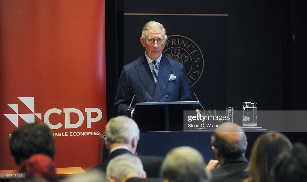 <a gi-track='captionPersonalityLinkClicked' href=/galleries/search?phrase=Prince+Charles+-+Prince+of+Wales&family=editorial&specificpeople=160180 ng-click='$event.stopPropagation()'>Prince Charles</a>, Prince of Wales speaks during the reception launch of CDP's Global Forests Report 2013 at The Royal Society on November 20, 2013 in London, England.