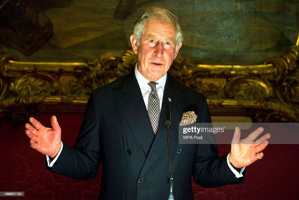 Prince Charles, Prince of Wales speaksat a special reception at the Palace of the Grandmaster on November 26, 2015 in Valletta, Malta. The Prince of Wales launched the Prince's Trust International, a global extension of the United Kingdom's leading youth charity, The Prince's Trust.