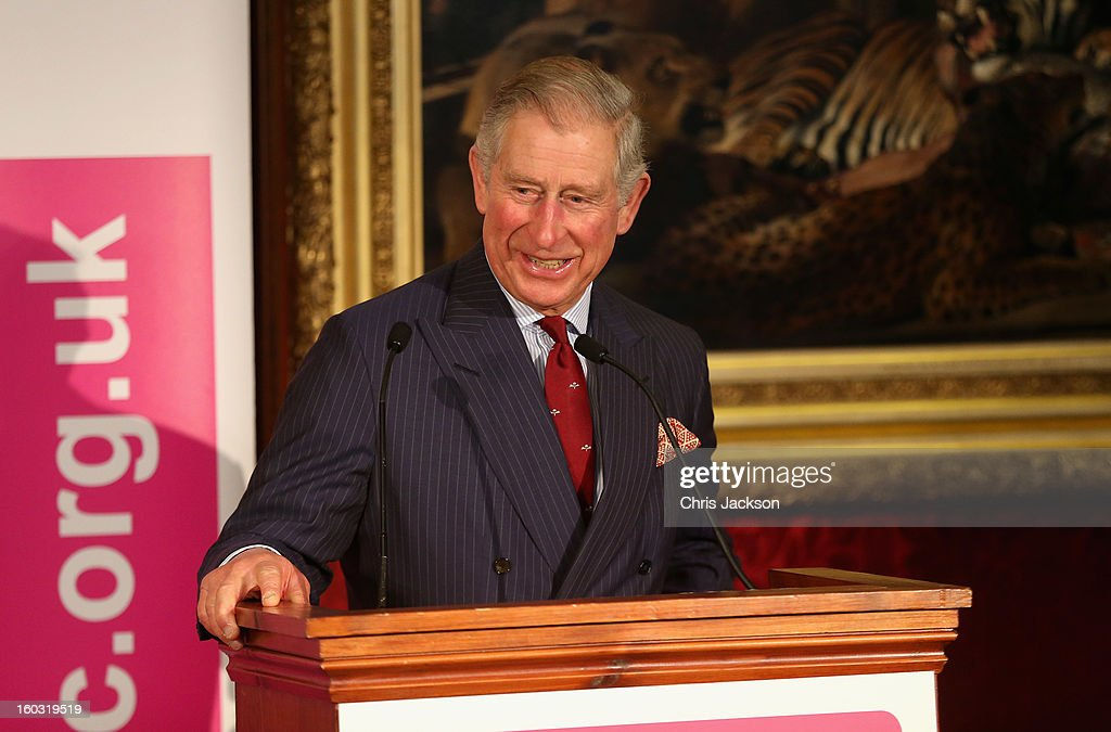 <a gi-track='captionPersonalityLinkClicked' href=/galleries/search?phrase=Prince+Charles+-+Prince+of+Wales&family=editorial&specificpeople=160180 ng-click='$event.stopPropagation()'>Prince Charles</a>, Prince of Wales talks to Business Leaders at a Business in the Community event at St James Palace on January 29, 2013 in London, England. The Prince of Wales, President, Business in the Community attended a report back seminar with business leaders who are participating in the BITC 'Seeing is Believing' programme.