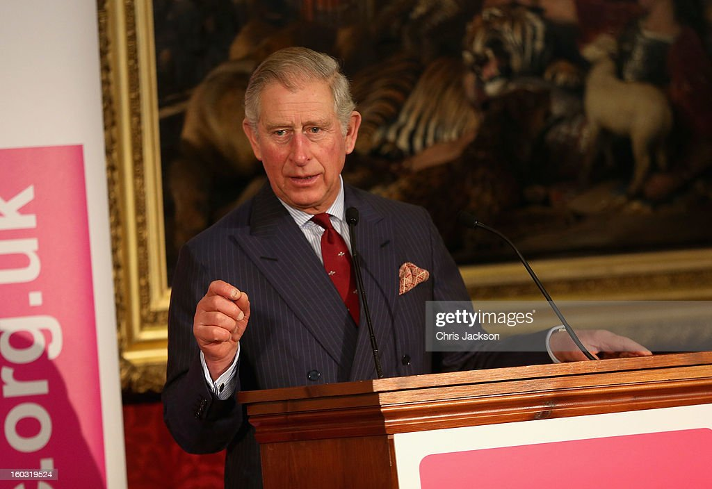 Prince Charles, Prince of Wales talks to Business Leaders at a Business in the Community event at St James Palace on January 29, 2013 in London, England. The Prince of Wales, President, Business in the Community attended a report back seminar with business leaders who are participating in the BITC 'Seeing is Believing' programme.