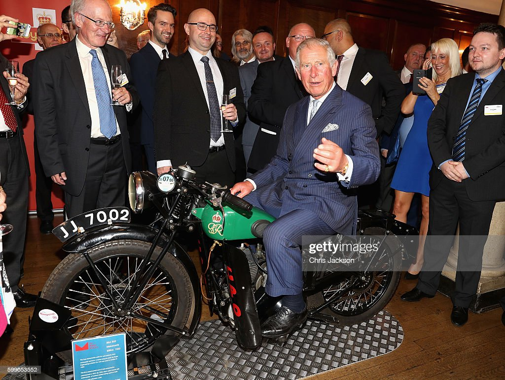 prince-charles-prince-of-wales-tries-a-1933-bsa-500cc-motorbike-used-picture-id599653552