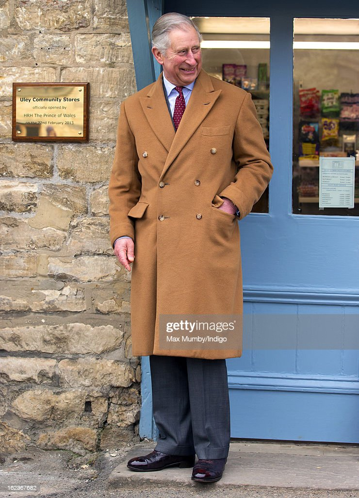 <a gi-track='captionPersonalityLinkClicked' href=/galleries/search?phrase=Prince+Charles&family=editorial&specificpeople=160180 ng-click='$event.stopPropagation()'>Prince Charles</a>, Prince of Wales unveils a plaque as he visits the Uley Community Stores and Post Office whilst on a day of engagements in Gloucestershire on February 22, 2013 in Uley, Gloucestershire, England.