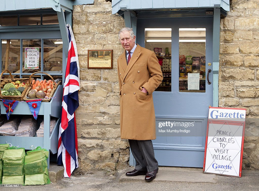 <a gi-track='captionPersonalityLinkClicked' href=/galleries/search?phrase=Prince+Charles+-+Prince+of+Wales&family=editorial&specificpeople=160180 ng-click='$event.stopPropagation()'>Prince Charles</a>, Prince of Wales unveils a plaque as he visits the Uley Community Stores and Post Office whilst on a day of engagements in Gloucestershire on February 22, 2013 in Uley, Gloucestershire, England.