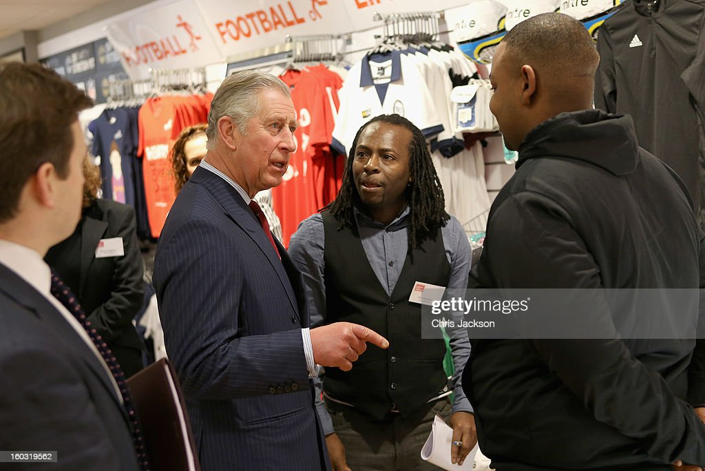 <a gi-track='captionPersonalityLinkClicked' href=/galleries/search?phrase=Prince+Charles+-+Prince+of+Wales&family=editorial&specificpeople=160180 ng-click='$event.stopPropagation()'>Prince Charles</a>, Prince of Wales visits Circle Sports in North London on January 29, 2013 in London, England. The Prince of Wales, President, Business in the Community, led a group of senior business leaders on a Seeing is Believing visit to an organisation supported by BITC, Circle Sports.