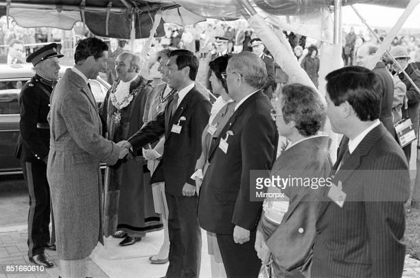 Prince Charles Prince of Wales visits Tabuchi at Teesside Industrial Estate 18th March 1987