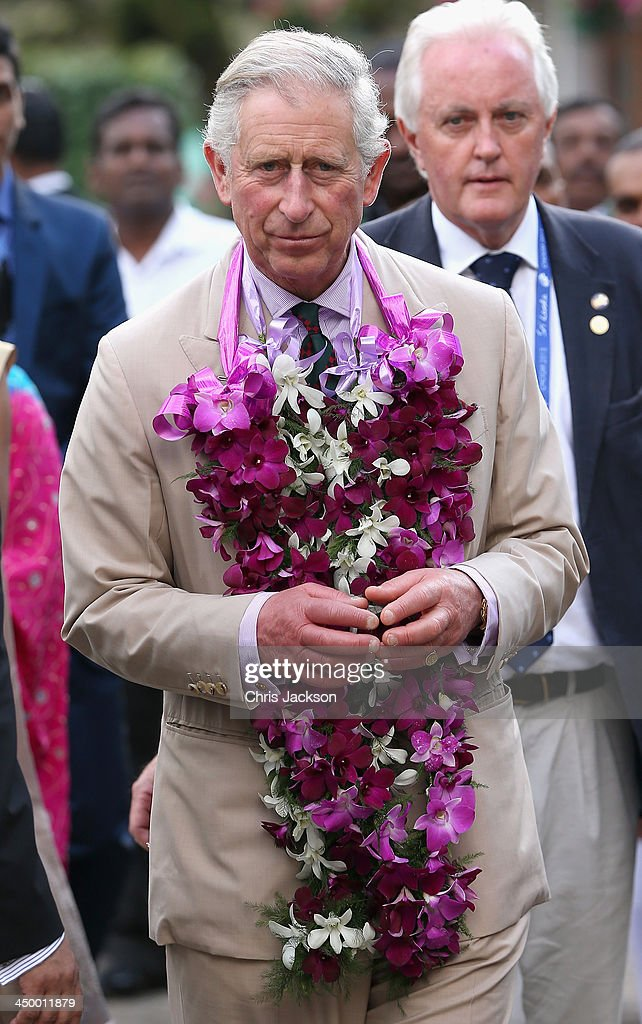 <a gi-track='captionPersonalityLinkClicked' href=/galleries/search?phrase=Prince+Charles&family=editorial&specificpeople=160180 ng-click='$event.stopPropagation()'>Prince Charles</a>, Prince of Wales visits the Mackwoods Labookellie Tea Estate on Day 3 of a visit to Sri Lanka on November 16, 2013 in Nuwara Eliya, Sri Lanka. The Royal couple are visiting Sri Lanka in order to attend the 2013 Commonwealth Heads of Government Meeting. <a gi-track='captionPersonalityLinkClicked' href=/galleries/search?phrase=Prince+Charles&family=editorial&specificpeople=160180 ng-click='$event.stopPropagation()'>Prince Charles</a>, representing the Queen will open the meeting.