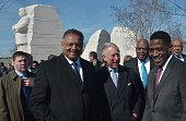 Prince Charles Prince of Wales visits the Martin Luther King Jr Memorial on March 18 2015 in Washington DC The Royal couple is on a trip in the US