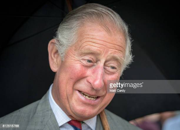 Prince Charles Prince of Wales visits the Royal Welsh Regimental Museum during The Prince of Wales' annual Summer visit to Wales on July 11 2017 in...