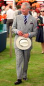 Prince Charles Prince of Wales visits the Sandringham Flower Show on July 30 2008 in Norfolk England