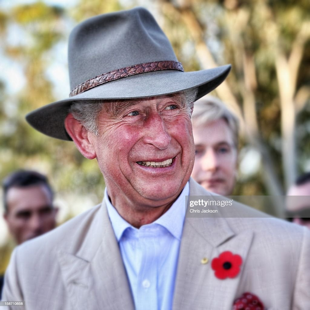 <a gi-track='captionPersonalityLinkClicked' href=/galleries/search?phrase=Prince+Charles&family=editorial&specificpeople=160180 ng-click='$event.stopPropagation()'>Prince Charles</a>, Prince of Wales visits the Stockman's Hall of Fame on November 5, 2012 in Longreach, Australia. The Royal couple are in Australia on the second leg of a Diamond Jubilee Tour taking in Papua New Guinea, Australia and New Zealand.
