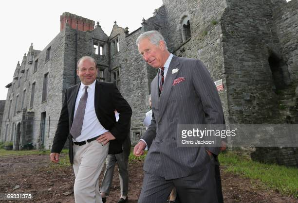 Prince Charles Prince of Wales visitsHay Castle on May 23 2013 in HayonWye Wales During their visit to HayOnWye Prince Charles Prince of Wales and...