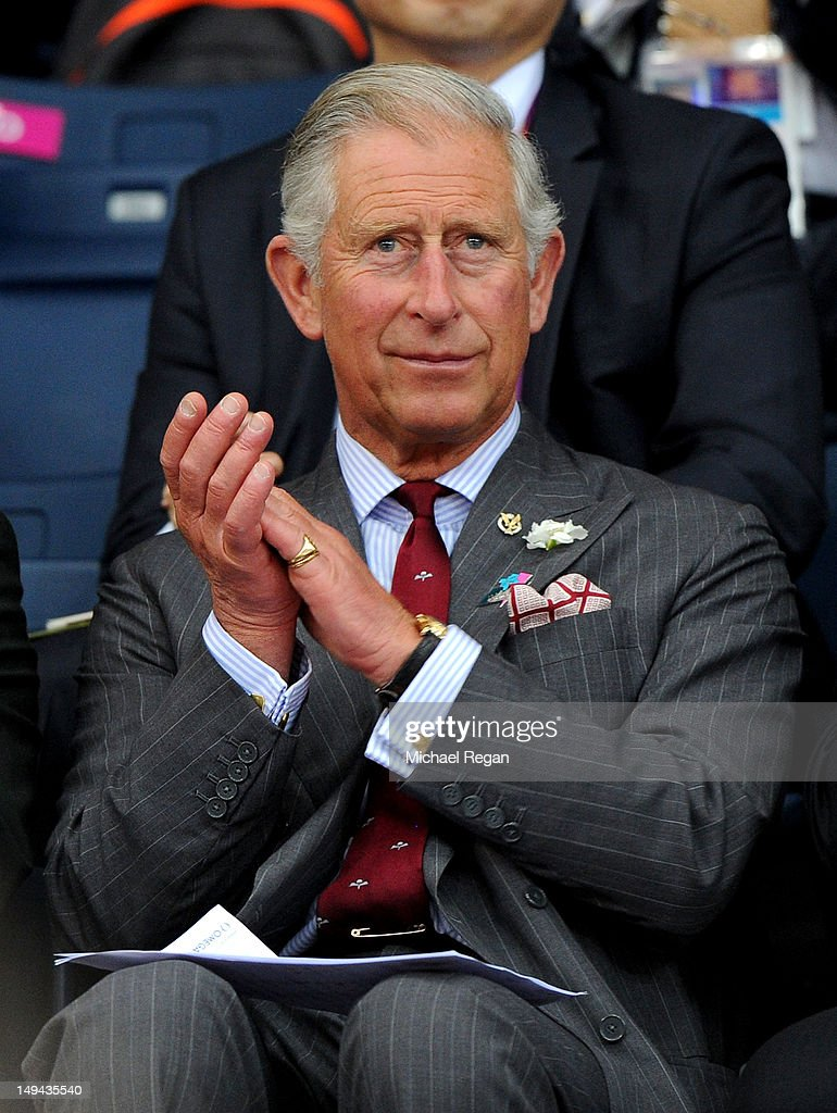 <a gi-track='captionPersonalityLinkClicked' href=/galleries/search?phrase=Prince+Charles+-+Prince+of+Wales&family=editorial&specificpeople=160180 ng-click='$event.stopPropagation()'>Prince Charles</a>, Prince of Wales watches Badminton on Day 1 of the London 2012 Olympic Games at Wembley Arena on July 28, 2012 in London, England.