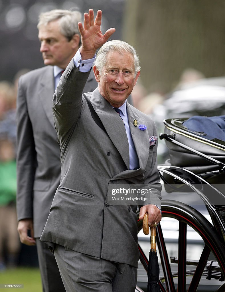 <a gi-track='captionPersonalityLinkClicked' href=/galleries/search?phrase=Prince+Charles+-+Prince+of+Wales&family=editorial&specificpeople=160180 ng-click='$event.stopPropagation()'>Prince Charles</a>, Prince of Wales waves to the crowds as he visits the 130th Sandringham Flower Show on July 27, 2011 in Huntingdon, England.