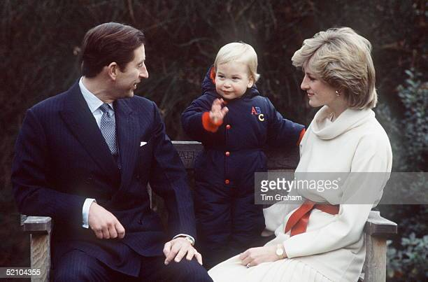 Prince Charles Prince William And Princess Diana At Kensington Palace