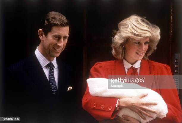 Prince Charles Princess Diana leaving hospital after the birth of Prince Harry dbase MSI Glossary 16th September 1984