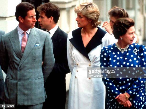 Prince Charles Princess Diana Queen Lord Linley At Clarence House