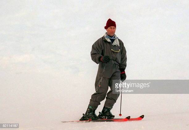 Prince Charles Skiing In Klosters Switzerland